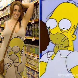 This Woman Or Homer Simpson?
