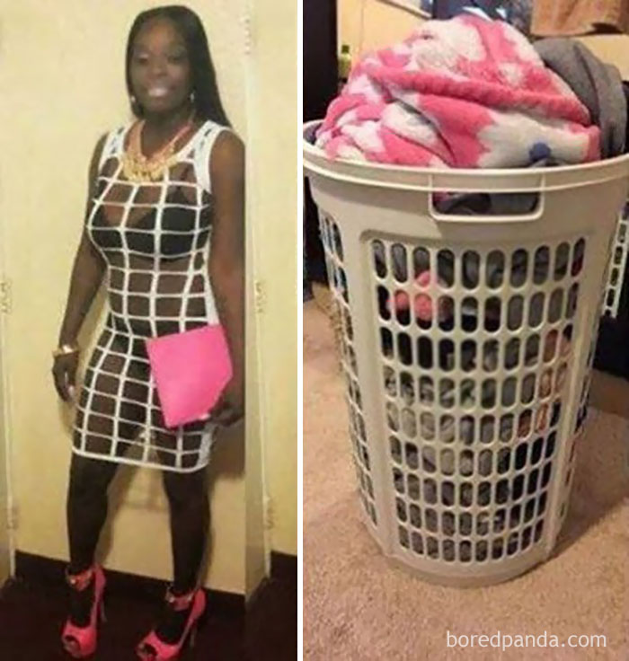 This Lady Or A Laundry Basket?