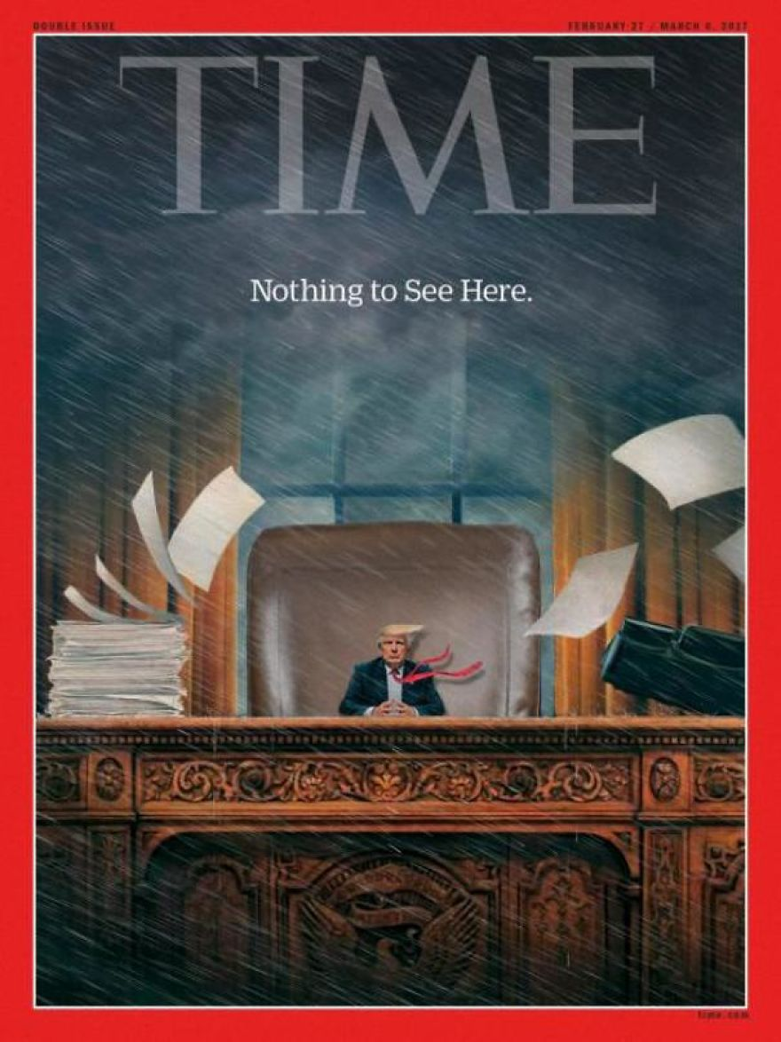 Looks Like Time Magazine Is On The Tiny Trump Trend With Their Newest Issue