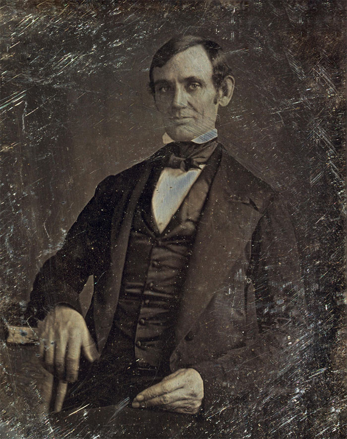 Abraham Lincoln late 30s (earliest confirmed photo)
