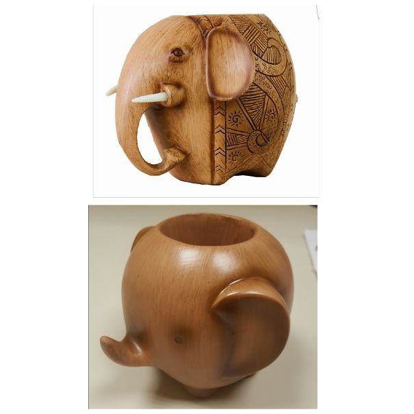 Ordered A Decorative Elephant Pencil Holder For My Desk . . .