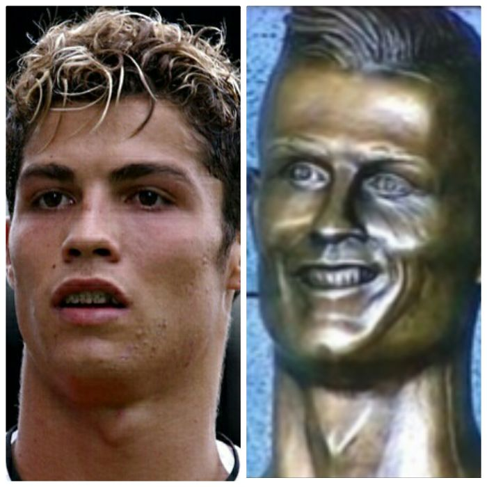 Is It Possible He Just Had The Picture Of A Younger Ronaldo?