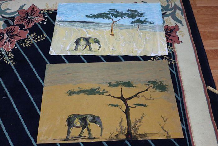 I Painted Elephants On Water