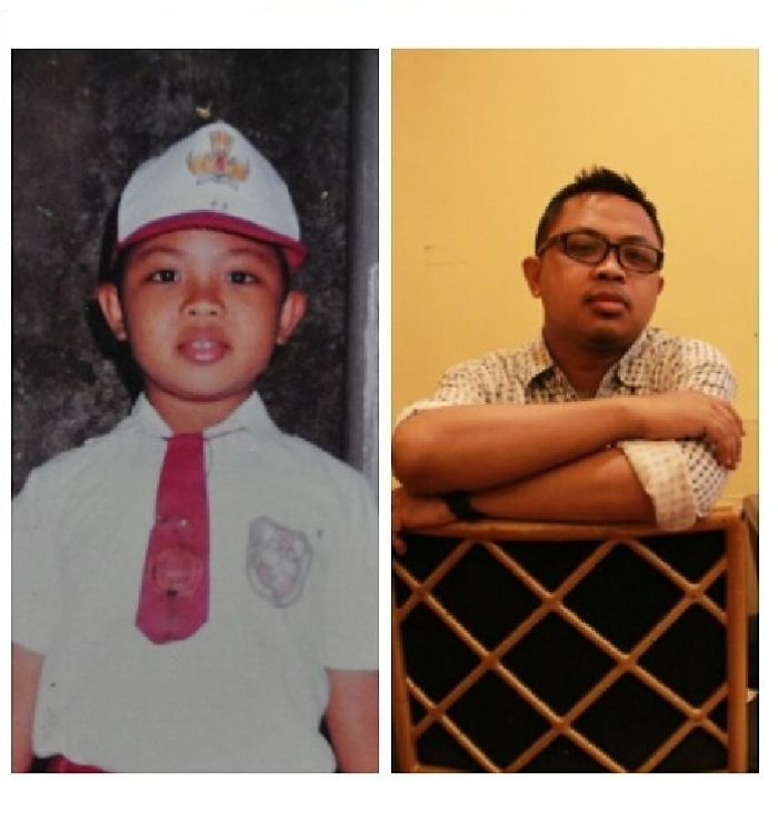 Me At Age 8 In 1989, And At Age 34 In 2015