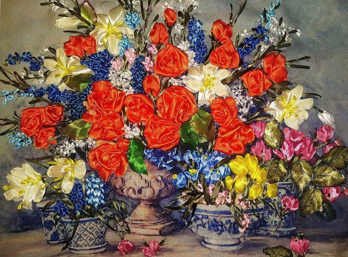 Meko Gelashvili's Ribbon Embroidery Artworks