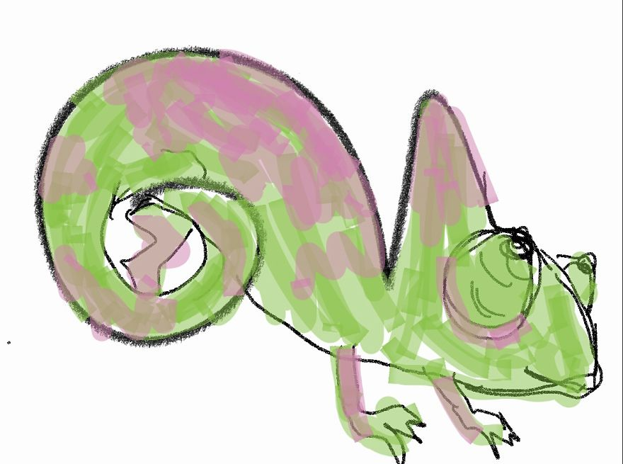 A Chameleon From Memory (aka What Do Chameleons Look Like, Probably Not Like This)