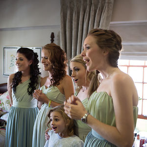 When My Bridesmaids & Flower Girl Saw My Wedding Dress For The First Time