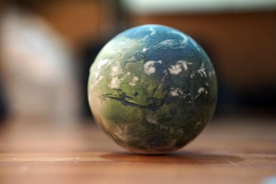 Terraformed Mars Globe