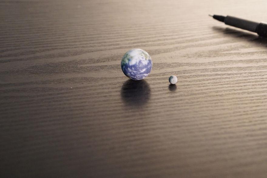 Tiny Earth And Moon
