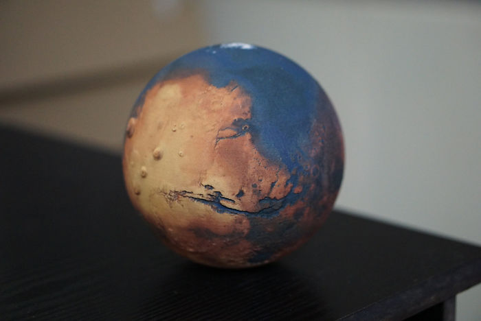 Mars With Water Globe