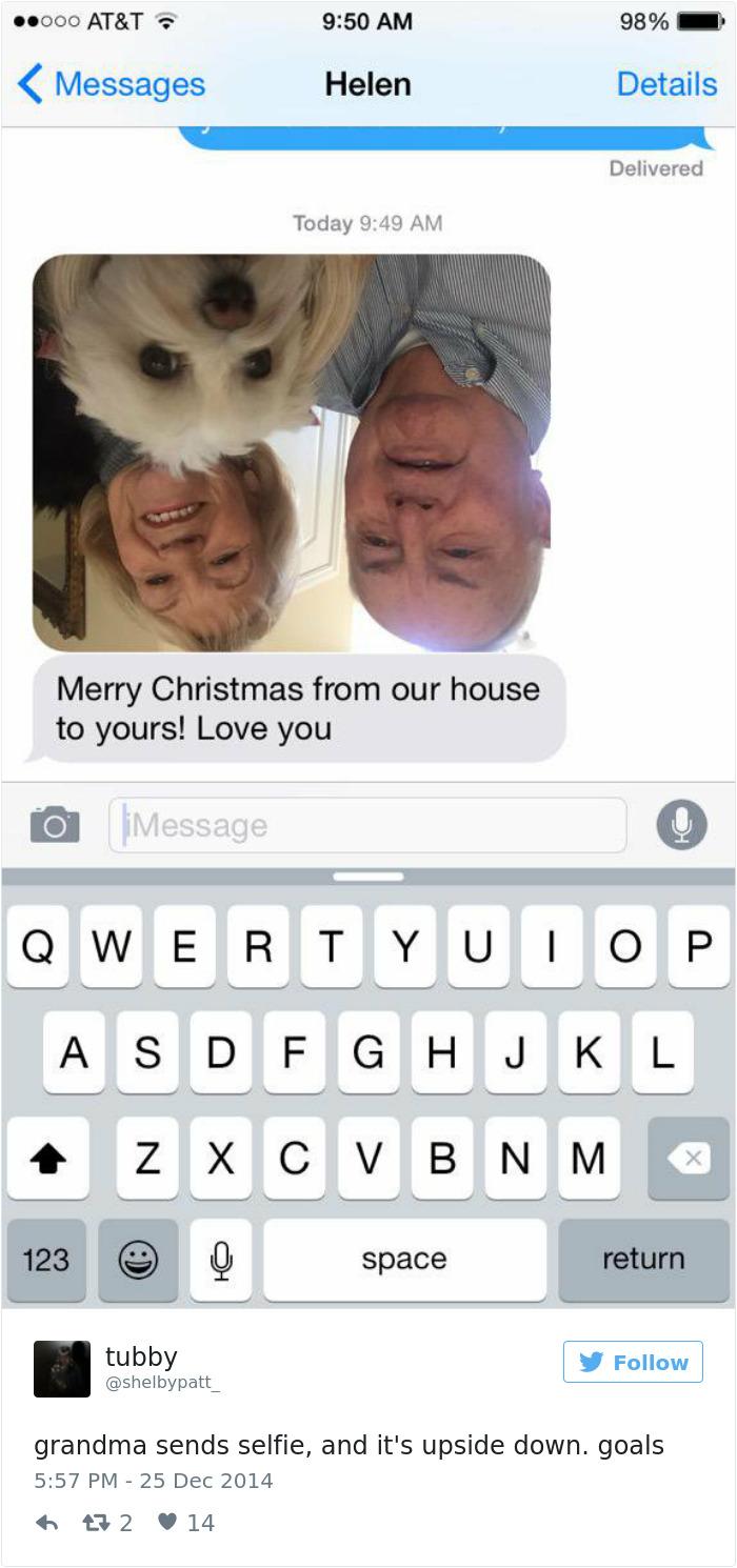 Grandma Sends Selfie