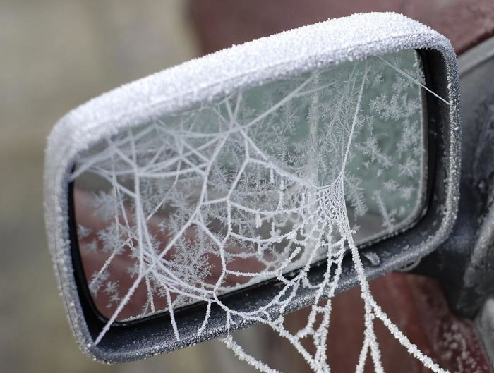 Some Ice Spider Webbed My Car