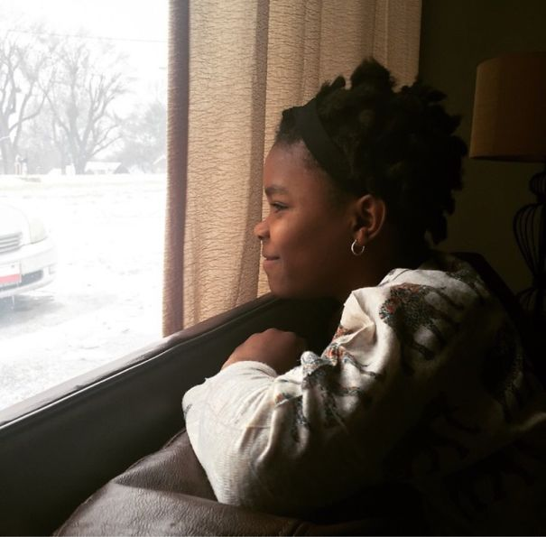 My Friends Adopted A Little Girl From Haiti, And This Is Her Watching It Snow For The First Time
