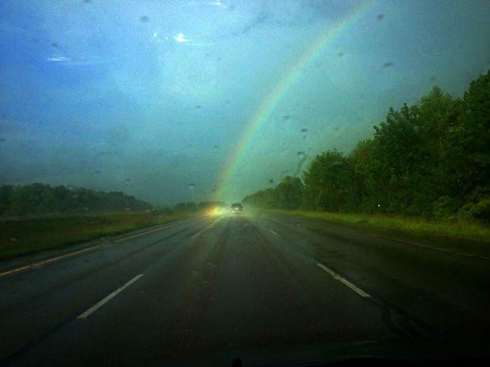 La 1ª vez que veo el final del arco iris