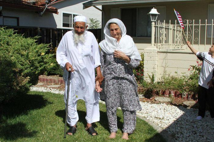 Mis abuelos siempre soñaron con venir a Estados Unidos y por fin lo lograron a los 96 años