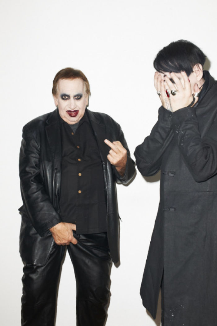 Marilyn Manson's Dad Surprised Him At His Recent Photo Shoot With Terry Richardson. Proof That Its A Father's Duty To Embarrass Your Children As Much As Humanly Possible