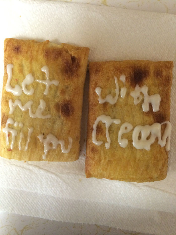 Note To Self: Never Let Boyfriend Decorate Toaster Strudels Again