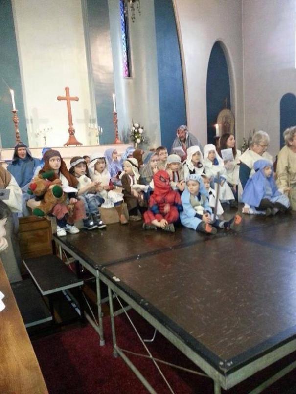 Spiderman At The Birth Of Jesus