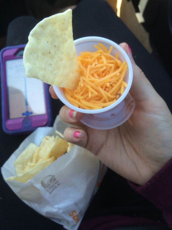 Asked For A Side Of Cheese For My Nachos And Got This