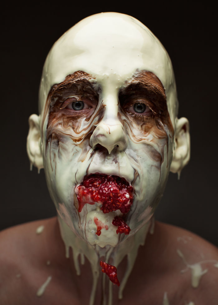 World Class Chef Serves Dishes On His Face To Prove A Point