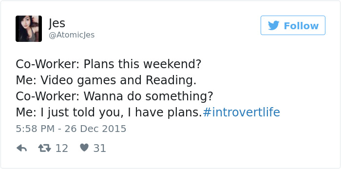 Introvert Tweet