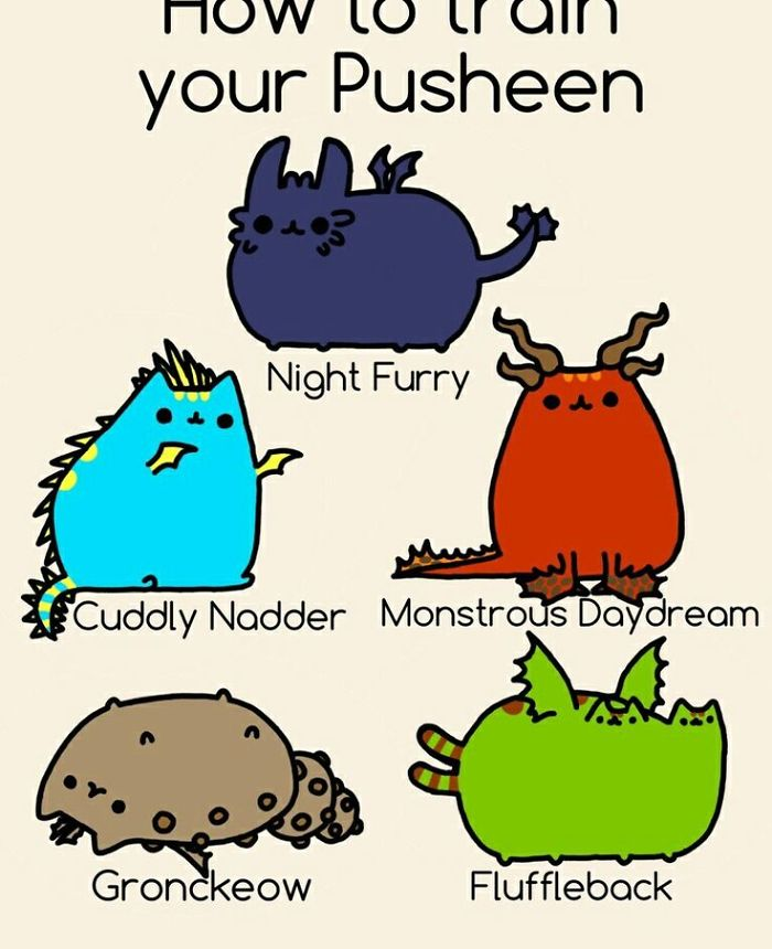 Pusheen And How To Train Your Dragon