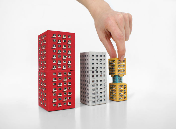 Blokoshka: Modernist Architectural Matryoshka That You Can Fold Out Of Paper