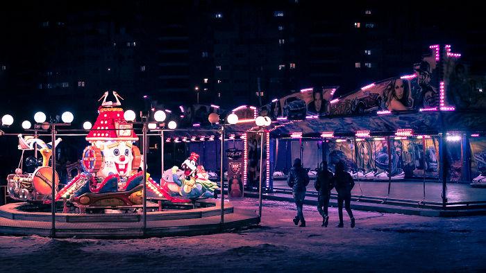 My Hometown Looks Incredible Eerie During Winter Nights
