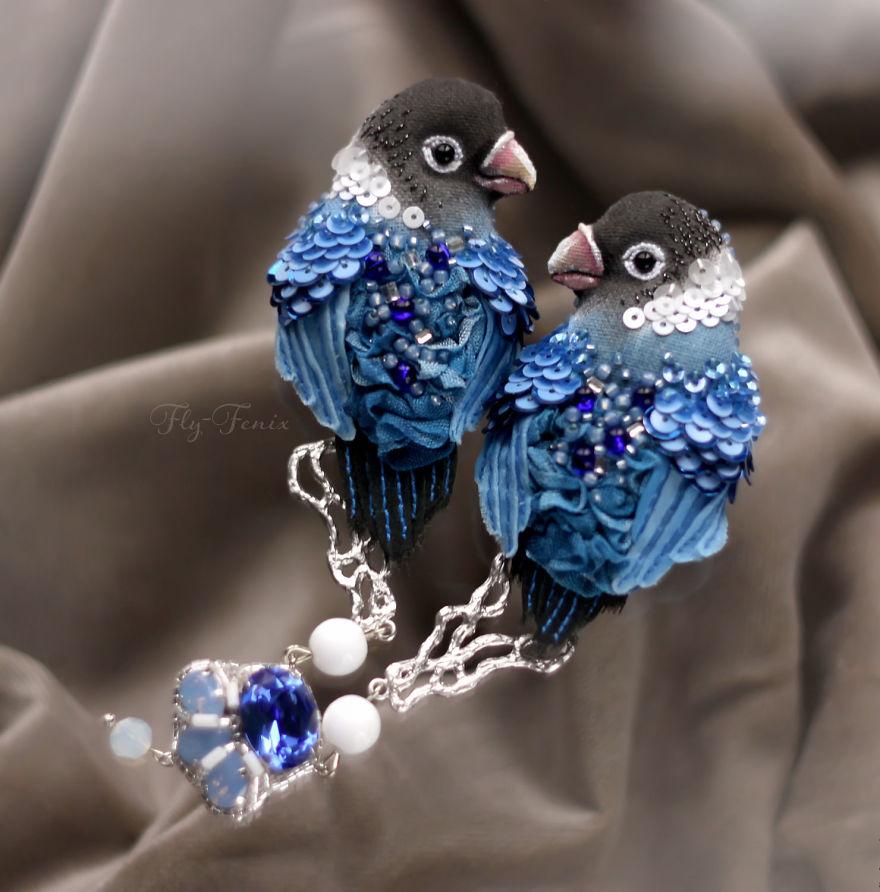 Birds Of Paradise By Russian Artist Julia Gorina