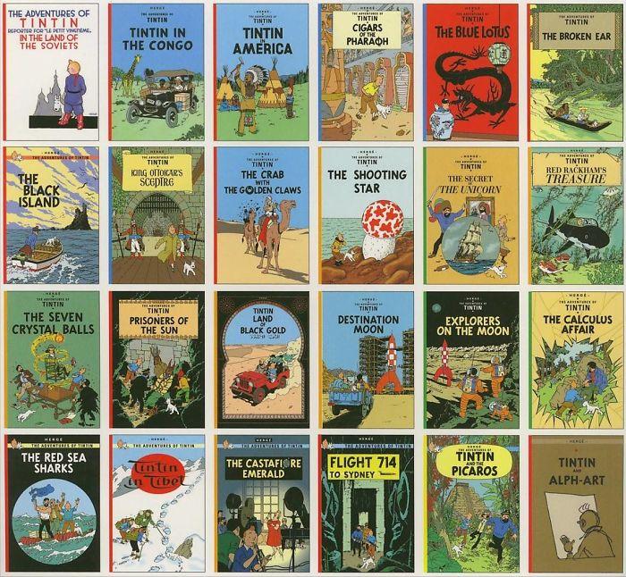 Tintin Comic Books