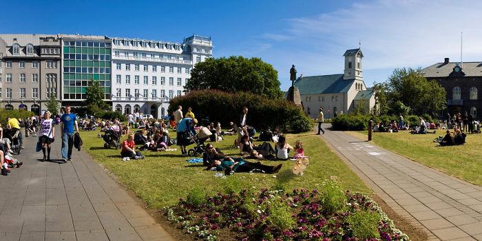 Picnicking In Reykjavik