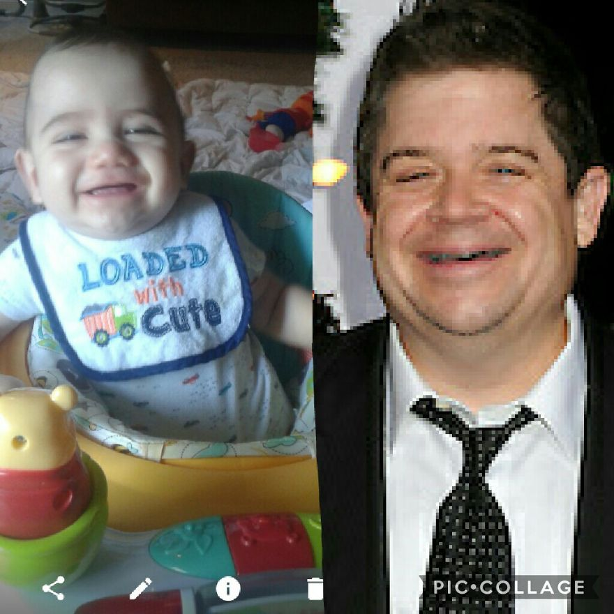 6months Old And The Resemblance Is Scary Lol.