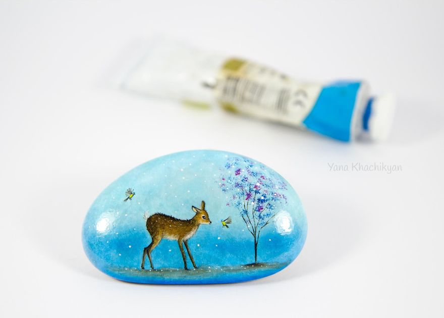 Oil Paintings On Stones