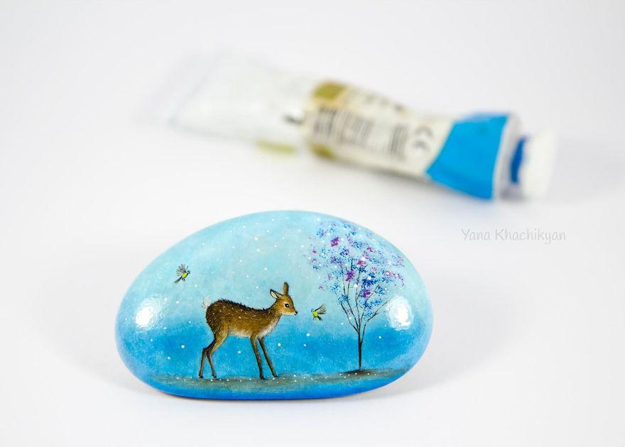 Oil Paintings On Stones