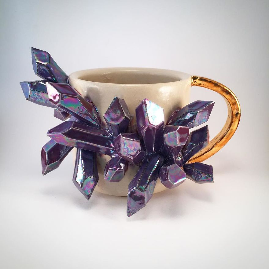 I Create Ceramic Pieces With Giant Sculpted Crystals
