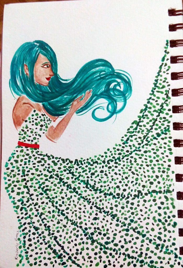 No.2  Seafoam Green Dots
