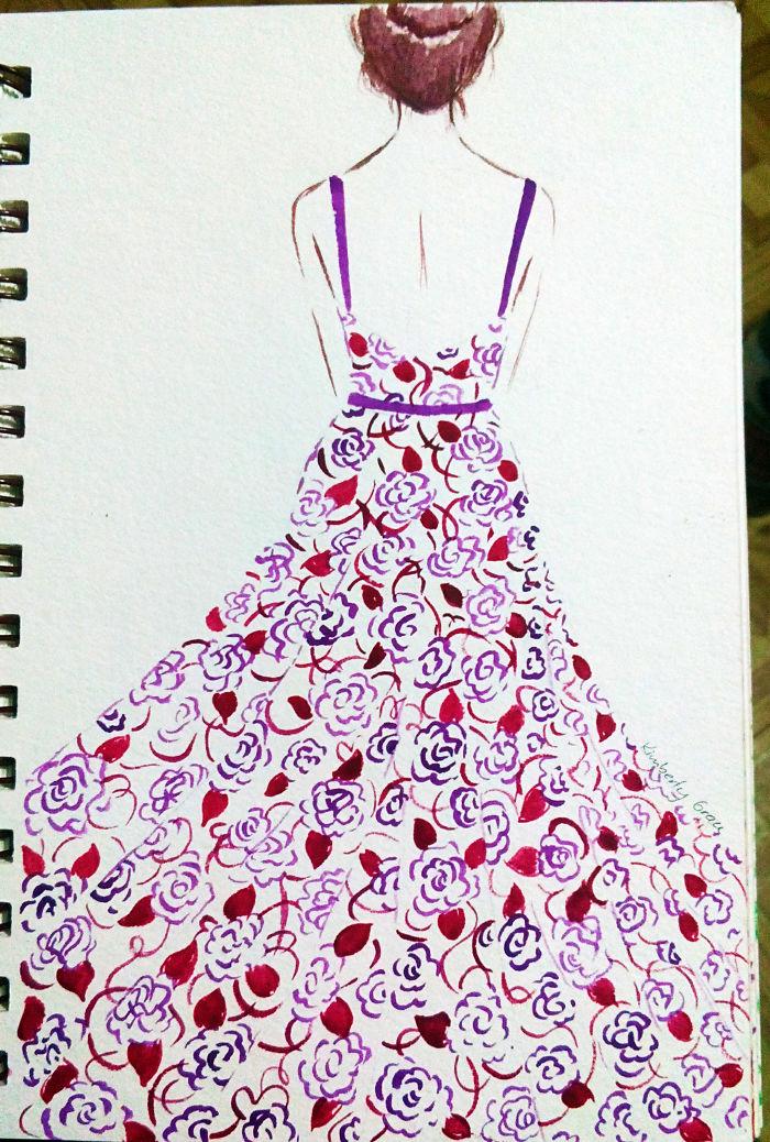 No. 3 Red & Purple Florals