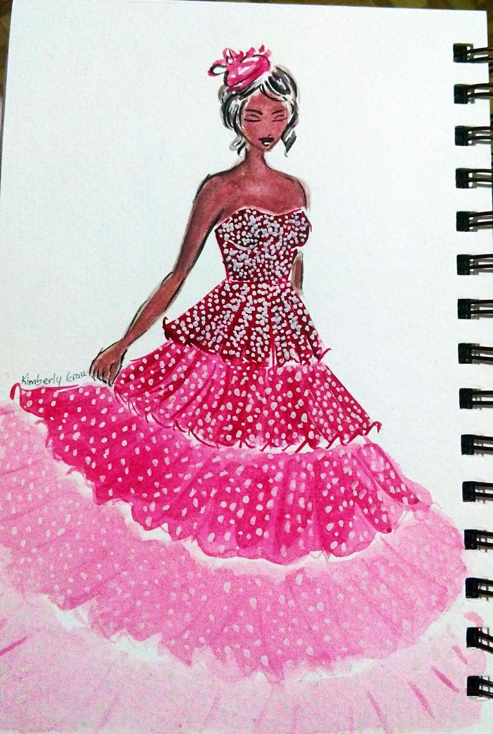 No.4 Pink Ombre Sequins