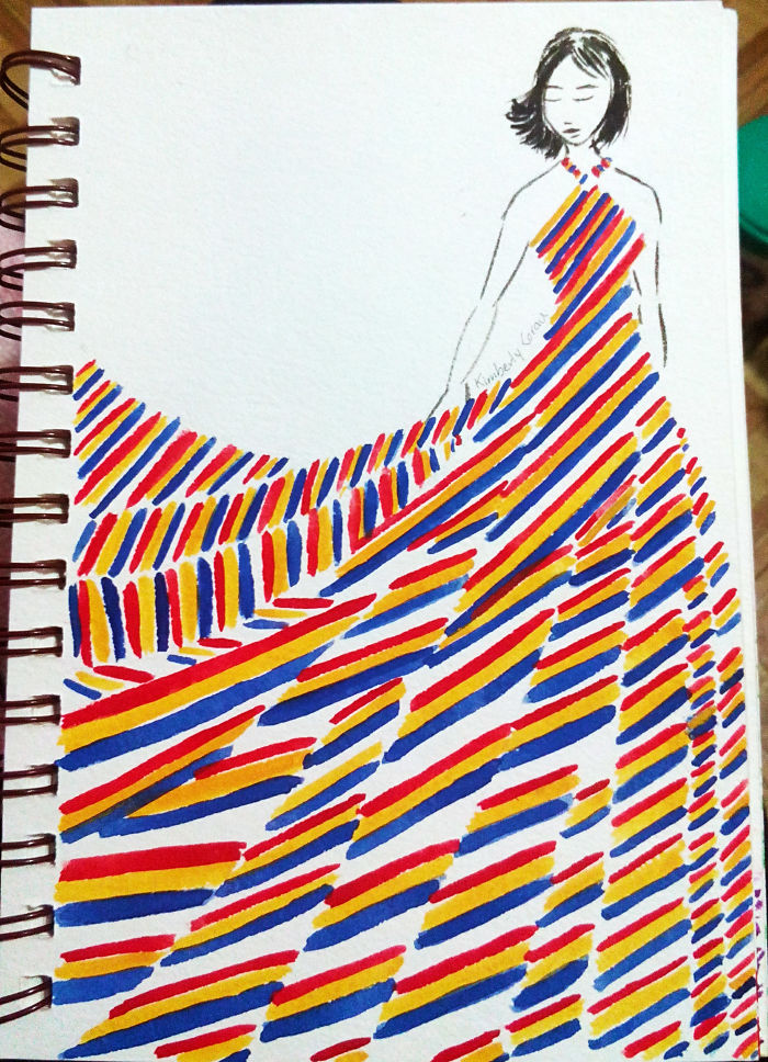 No.5 Diagonal Stripes Of Primary Colors