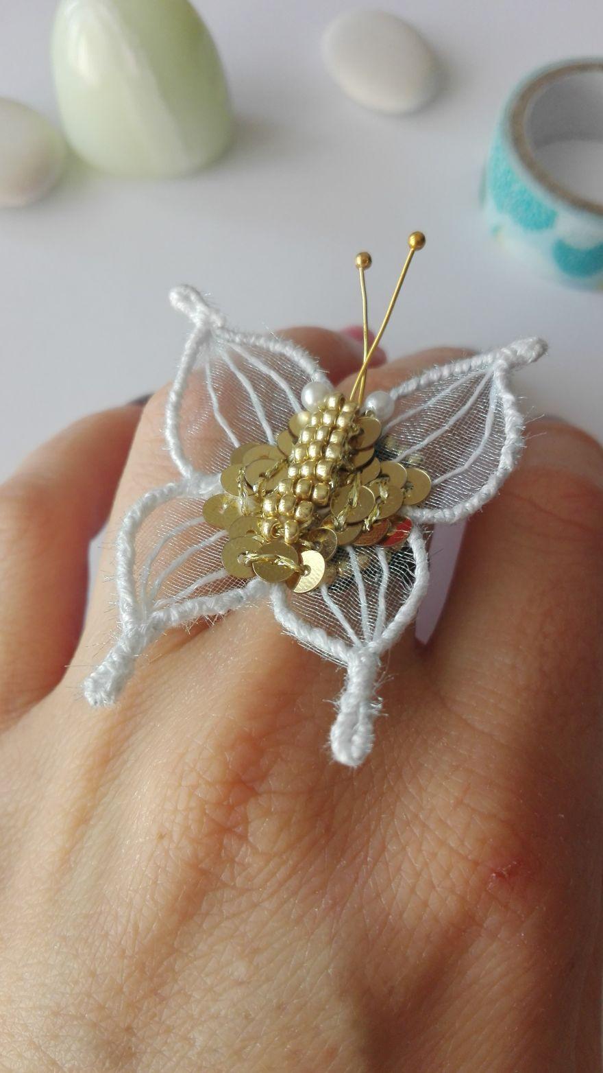 Art Butterfly Ring