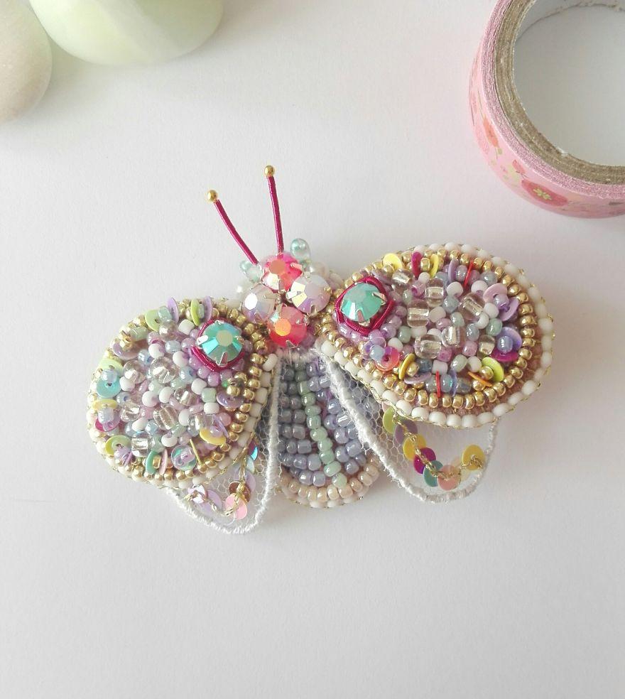 Pastel Beetle Brooch