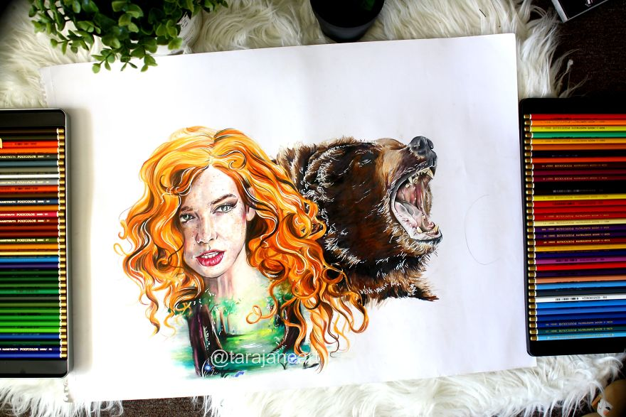 """Merida And Queen Elinor From """"Brave"""""""
