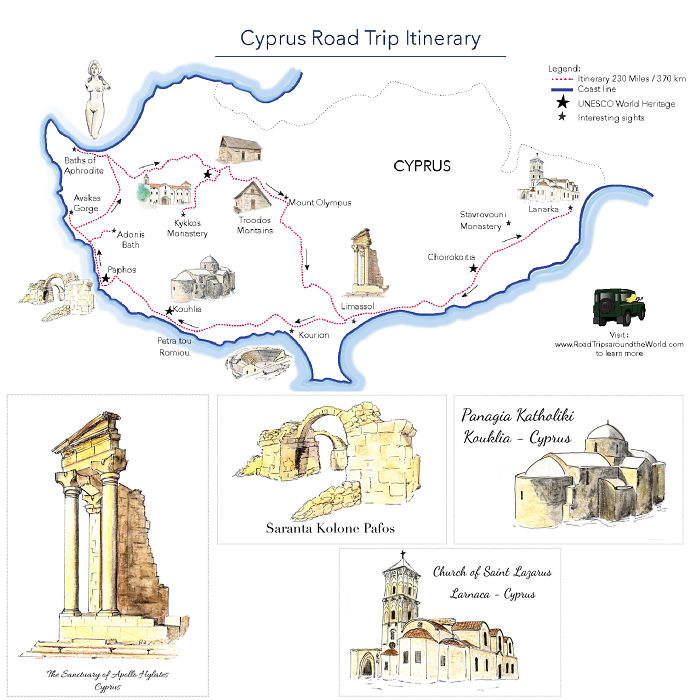 I Create Maps To Encourage You To Explore The World. This Latest One Is About Cyprus!