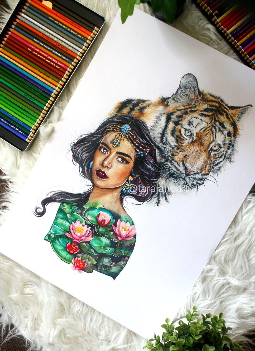 "Jasmine And Rajah From ""Aladdin"""