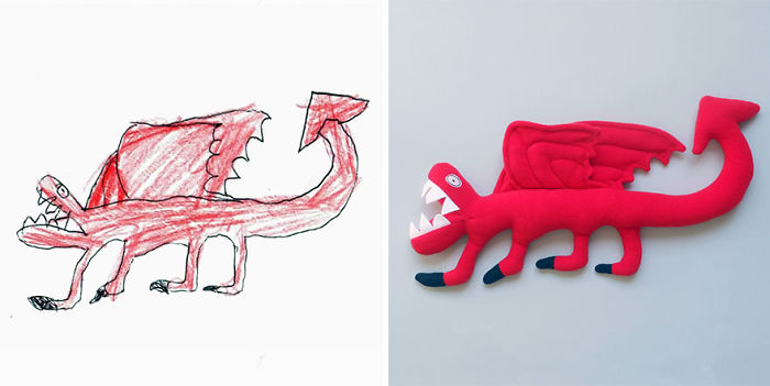 I Turn Your Little Artist's Drawing Into A Unique, Handmade Softie To Celebrate The Magic Of Childhood!