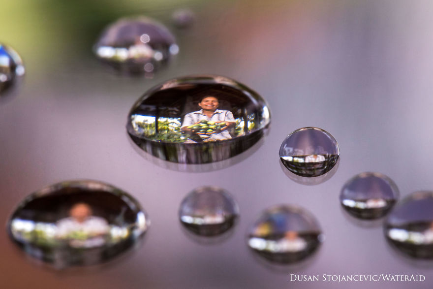 I Captured People Inside Tiny Water Droplets To Mark World Water - Amazing images captured tinniest water droplets