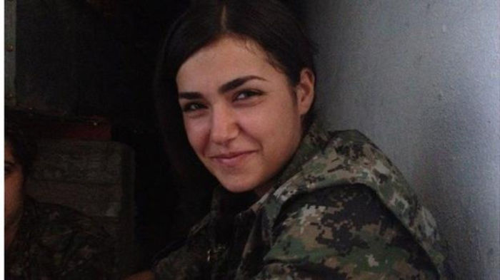 """Ceylan Ozalp, 19, Was Reportedly Surrounded By Isis Fighters Near The Syrian Kurdish City Of Kobane Also Known As Ain Al-arab. After She Run Out Of Ammunition Ozalp Said """"goodbye"""" Over The Radio And Spent Her Last Bullet On Killing Herself."""