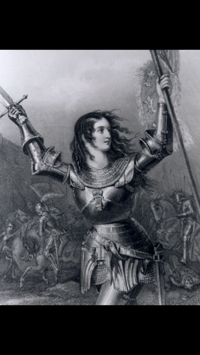"Joan Of Arc, Nicknamed ""the Maid Of Orléans,"" Was Born In 1412 In Domrémy, Bar, France. A National Heroine Of France, At Age 18 She Led The French Army To Victory Over The English At Orléans. Captured A Year Later, Joan Was Burned At The Stake As A Heretic By The English And Their French Collaborators"
