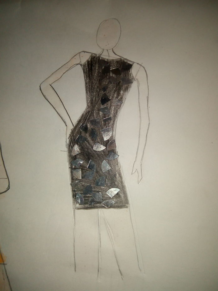 I Started To Draw Fashion Sketches.