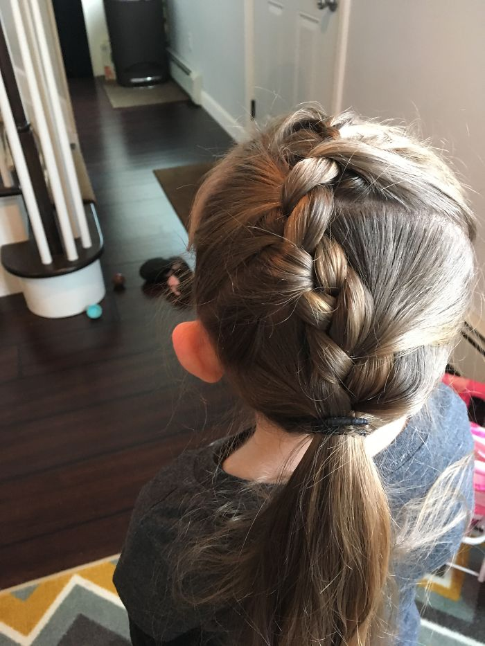 I Give My Daughter Pinterest Hairstyles Every Morning Before School (continued #2)